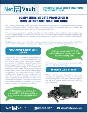 COMPREHENSIVE DATA PROTECTION IS MORE AFFORDABLE THAN YOU THINK