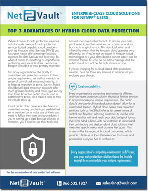 TOP 3 ADVANTAGES OF HYBRID CLOUD DATA PROTECTION